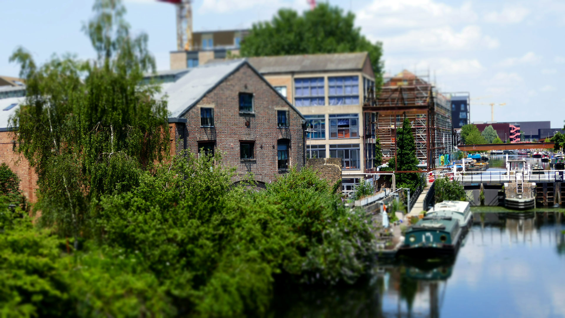 The Studio on the banks of the River Lea